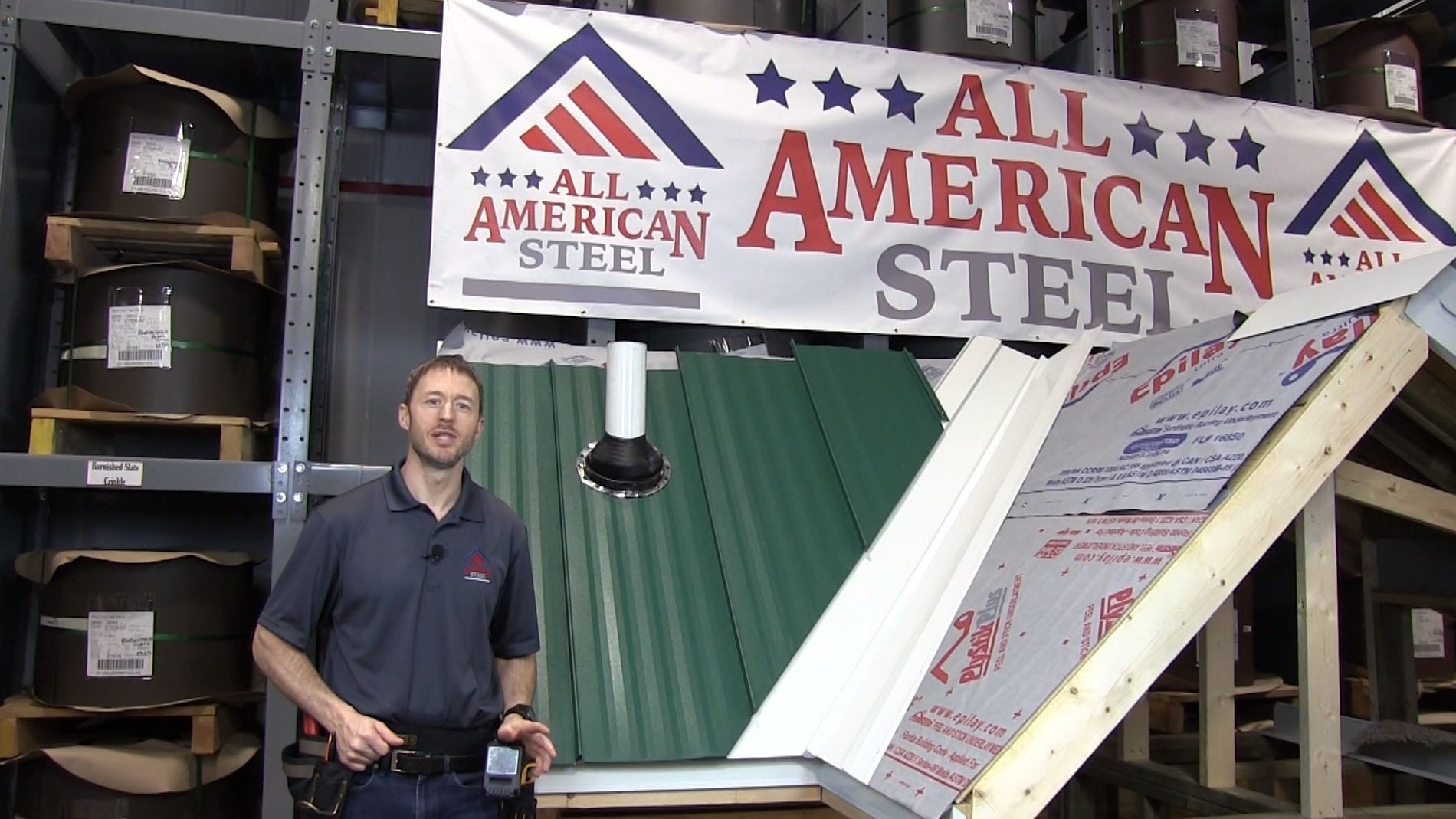 All American Steel image from video for background of project page by Right to Evolve