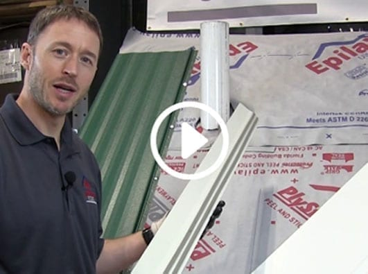 Cropped image of metal roofing video from All American Steel project by Right to Evolve