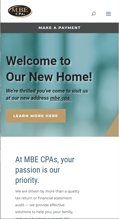 MBE CPA Mobile Layout