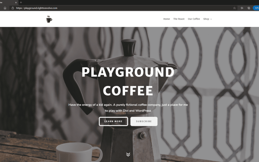 Coffee Playground Experimental Project