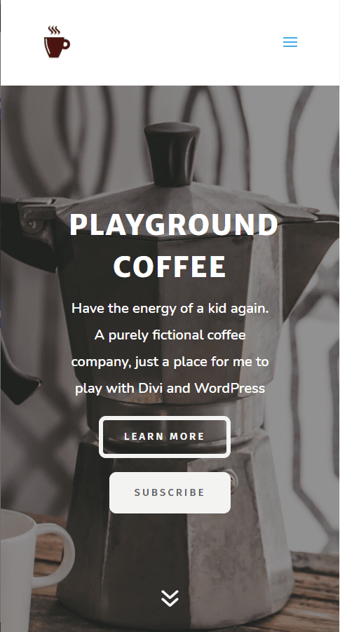 Playground Coffee Subscription Mobile Layout